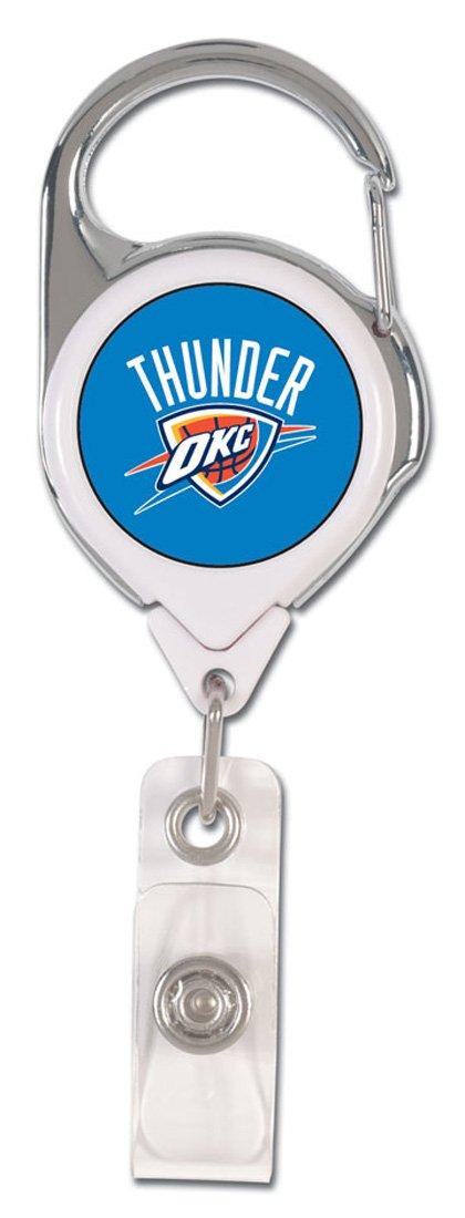 NBA Oklahoma City Thunder Premium Badge Reel, domed acrylic decal on both sides