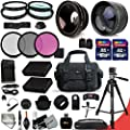 Ultimate 32 Piece Accessory Kit for Nikon D5500 Nikon D5300 D5200 D5100 D3300 D3200 P7800 P7700 P7100 P7000 DSLR Cameras Includes 58mm High Definition 2X Telephoto Lens + 58mm High Definition Wide Angle Lens + Ring adapters that enable fitting Lense from