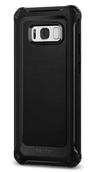 spigen Funda Galaxy S8 Plus, Carcasa [Rugged Armor Extra] Absorción de Choque Resistente y diseño de Fibra de Carbono para Galaxy S8+ (2017) - Negro