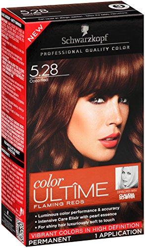 Schwarzkopf Ultime Hair Color Cream, 5.28 Cocoa Red, 2.03 Ou
