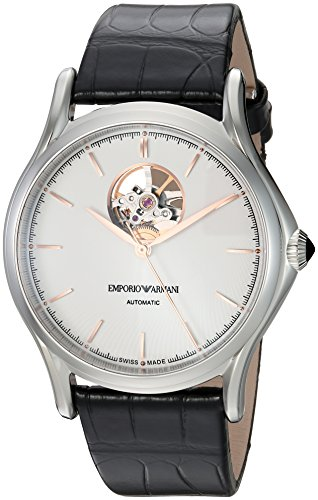 Emporio-Armani-Swiss-Made-Mens-Classic-Automatic-Stainless-Steel-and-Leather-Casual-Watch-ColorBlack-Model-ARS3303