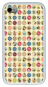 iPhone 4S Cases and Covers - Cartoon Circular Pattern Customize TPU Rubber Case for iPhone 4S/4 White