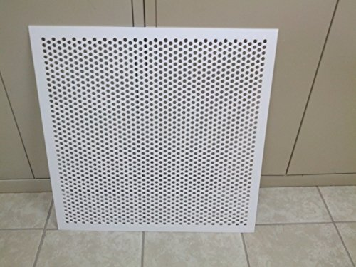 White Plastic Perforated Tile Return With 3 8