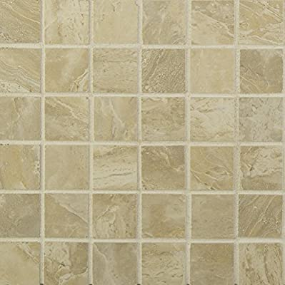 Onyx Sand 12 In. X 10 mm Porcelain Mesh-Mounted Mosaic Tile, (8 sq. ft., 8 pieces per case)