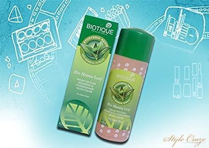 Buy Biotique Bio Henna Leaf Fresh Texture Shampoo Conditioner 210