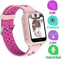 PTHTECHUS Telefono Reloj Inteligente LBS Niños - Smartwatch con Localizador LBS Juegos Despertador Camara Linterna per...