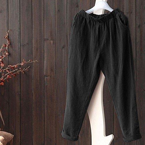Harem Streetwear Pantalons Automne Femmes Taille zahuihuiM Plus Mode Noir Casual Pantalon Linge Printemps Poches vZqPw