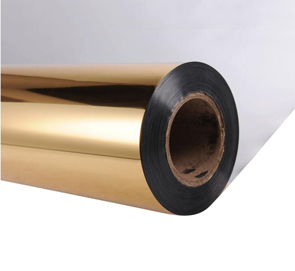 Mirror Carpet Thickening Light Celebration T-Taily Disposable Carpet Reflective Film Carpet 0.16kg/Square Meter (One Gold Side Silver, 10 (Size : 110m)