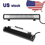 "Primeprolight 20"" 126W CREE LED WORK LIGHT BAR SPOT FLOOD COMBO LAMP Waterproof"