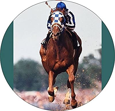 Set Of 4 Coasters With Cork Backing Secretariat Wins Kentucky Derby