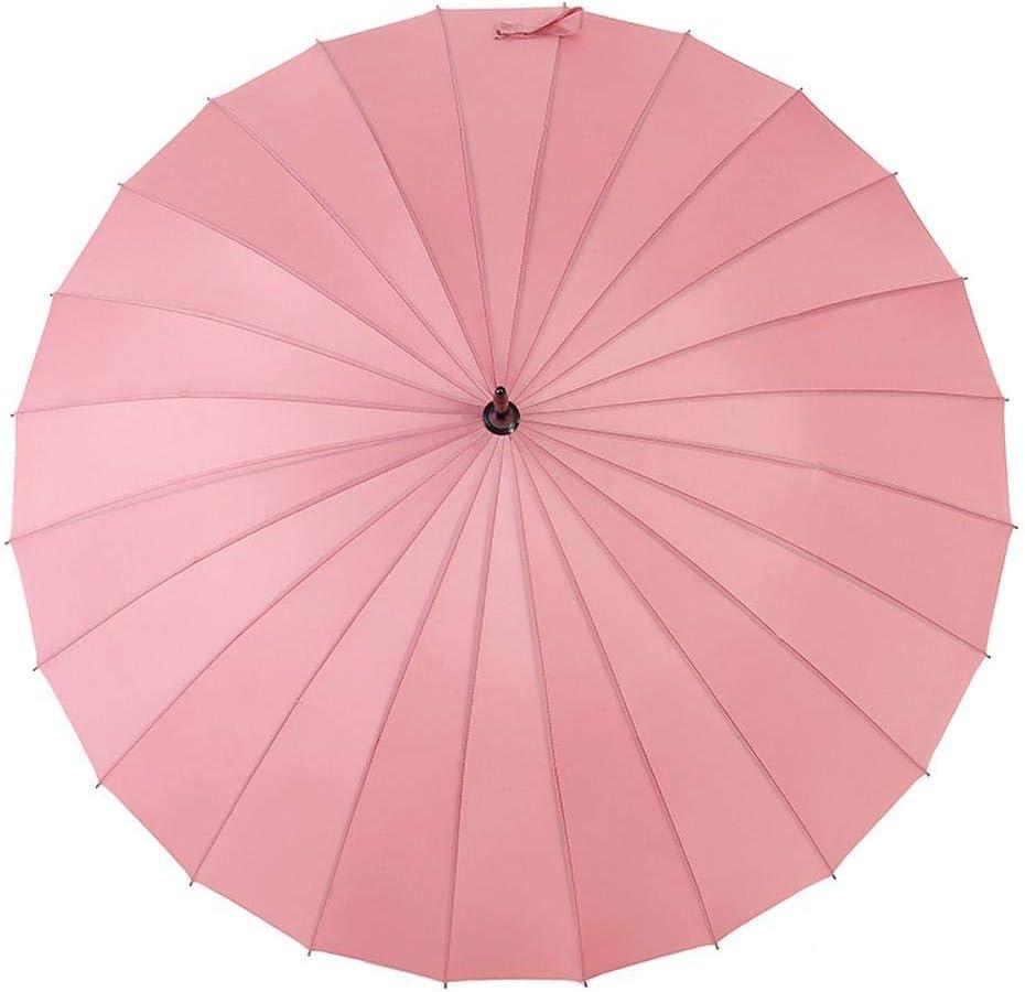 TtKj Folding Umbrella 24 Bone Meets Water Blossom Super Large Straight Handle Solid Color Windproof Clear Umbrella 86120cm
