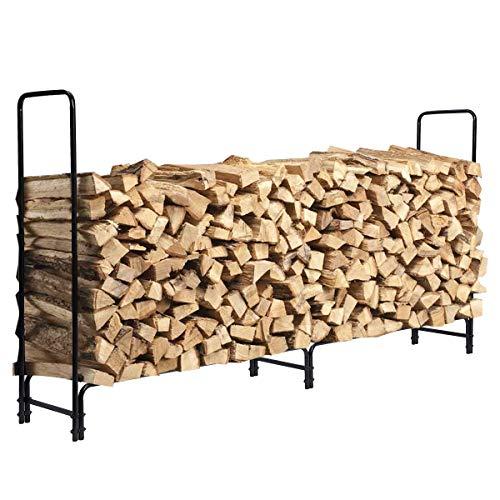 KINGSO 8ft Firewood Rack Outdoor Heavy Duty Log Rack Now $26.99 (Was $44.99)