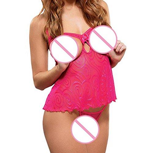 lingerie sexy Tentazione divertimento Lingerie sexy Caldo Rosa Pezzo di uniformi di set intima sessuale Biancheria di pizzo moda Subfamily w0q76Wfw