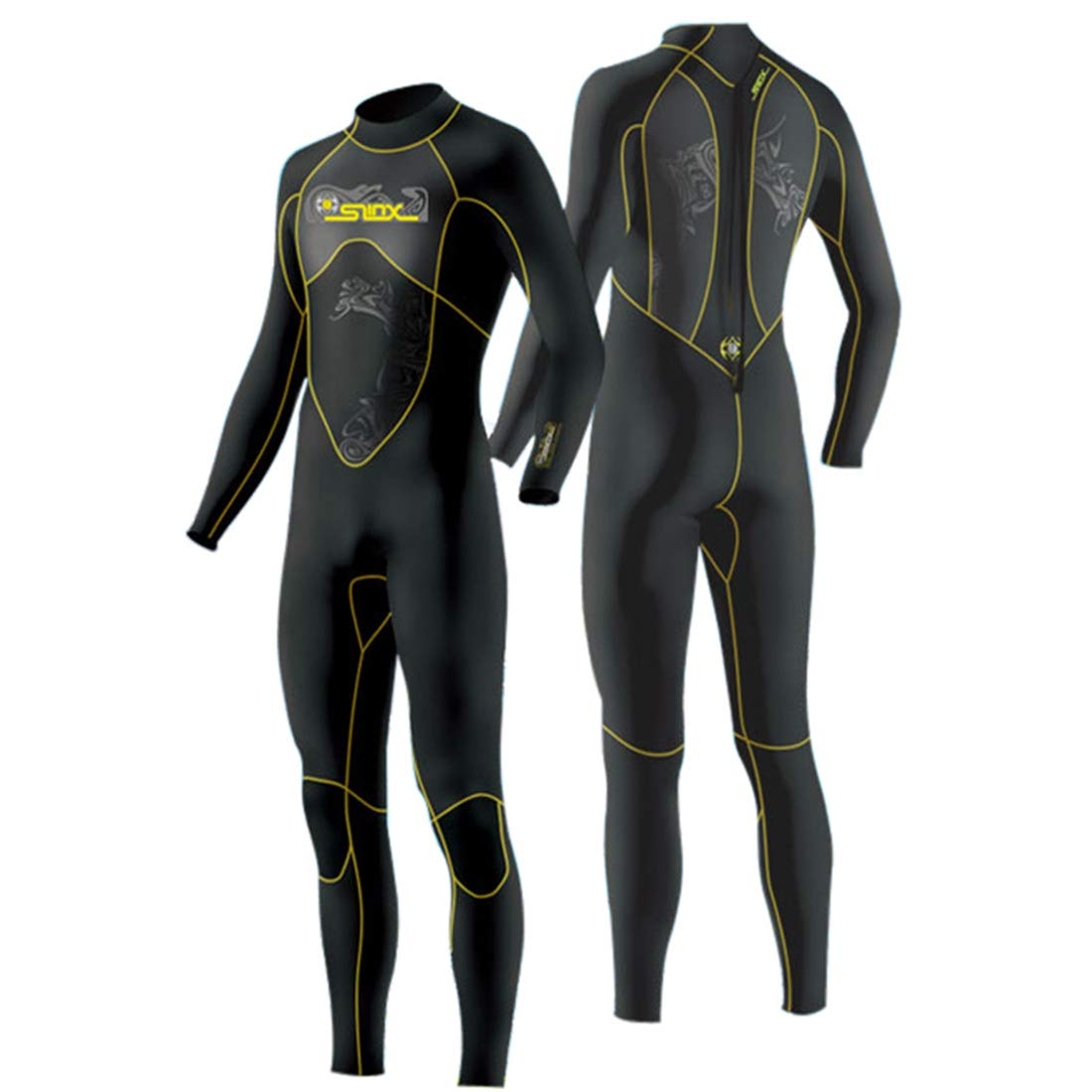 Large JASQSY Scuba Diving Wetsuit Men 3mm Diving Suit Neoprene Swimming Wetsuit Surf Triathlon Wet Suit Swimsuit Full Bodysuit,L
