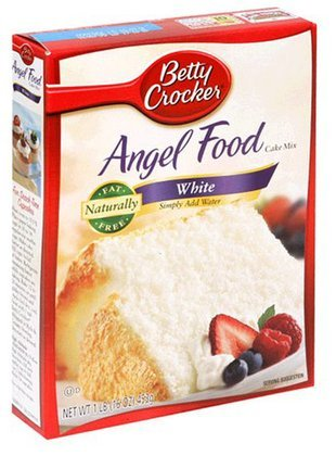 Betty Angel Food Cake Mix White Boxes 16OZ (Pack of 24) by Betty Crocker