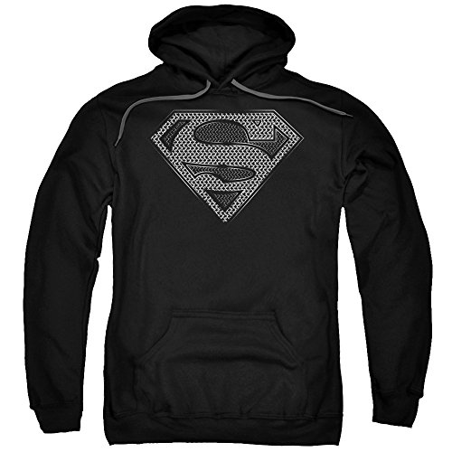 Superman DC Comics Chainmail Shield Logo Adult Pull-Over Hoodie