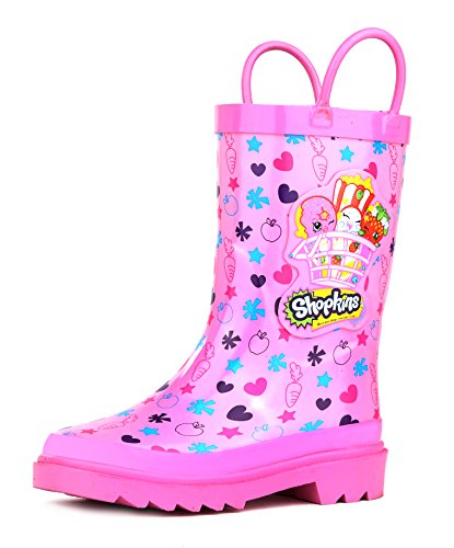 Shopkins Girl's Pink Rain Boots - Size 10 toddler