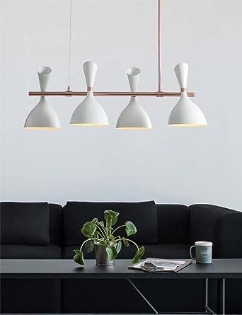 ZHANGRONG,Lampadari, Stile Nordico Moda Corpo Della Lampada Del Ferro Ombra  Di Trasmissione Luminosa