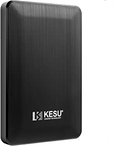 "KESU 2.5"" 160GB Ultra Slim Portable External Hard Drive USB3.0 HDD Storage Compatible for PC, Mac, Desktop, Laptop(Black)"
