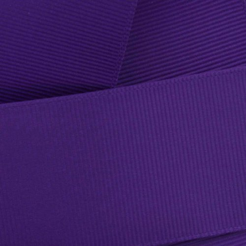 "2.25"" Regal Purple Grosgrain Ribbon Solid 10 Yard Reel (57mm) HBC Brand"