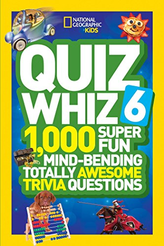 National Geographic Kids Quiz Whiz 6: 1,000 Super Fun Mind-Bending Totally Awesome Trivia Questions by National Geographic Children's Books (Image #2)