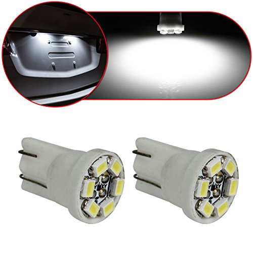 Partsam 2PCS T10 W5W Wedge 194 168 192 6 SMD LED License Plate Light Bulb, White (95 Geo Tracker Parts compare prices)