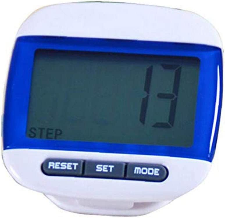 Ruijanjy LCD Run Step Pedometer Convenient Walking Distance Calorie Counter Blue