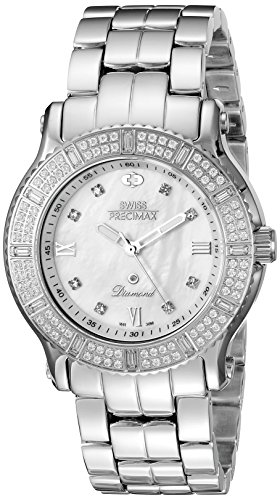 Swiss Precimax Women's SP13327 Tribeca Diamond Analog Display Swiss Quartz Silver Watch