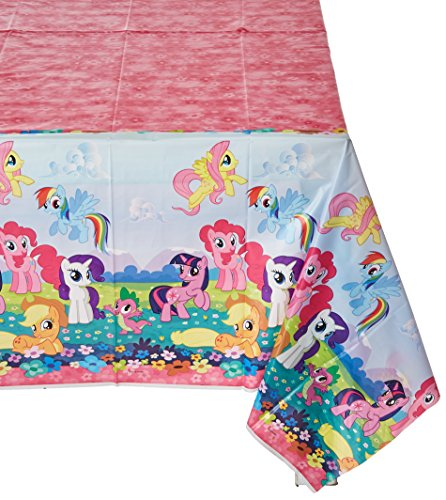 Amscan Charming My Little Pony Friendship Paper Table Cover Birthday Party Tableware Decorations Others Supplies (6 Piece)