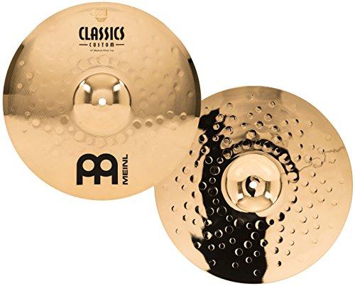 Meinl Cymbals CC14MH-B Classics Custom 14-Inch Brilliant Medium Hi Hat (VIDEO) by Meinl Cymbals
