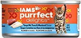 IAMS Purrfect Delights Flaked Adult Wet Cat Food, Tuna & Mackerel FqNXSP, 3 oz. (2 Pack of 24) For Sale