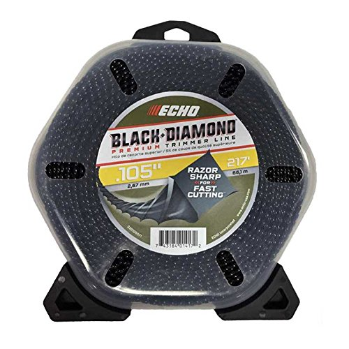 "Echo Black Diamond 330095071 .105"" x 217' 4-Cornered Spiral Pattern Trimmer Line by Echo"