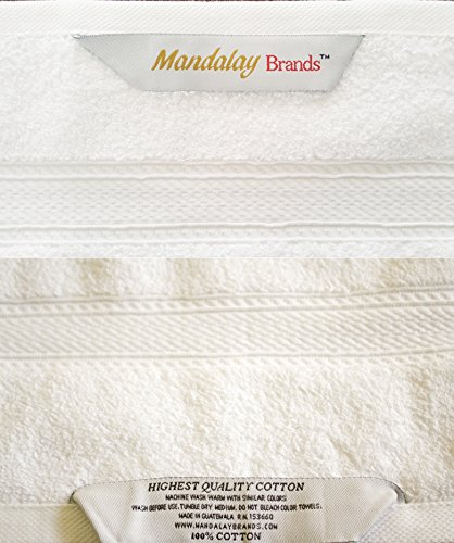 Luxury Hotel & Spa set of 6-piece Towels, 750GSM,100% Long Staple Combed Cotton. Premium set of 2 bath towels, 2 hand towels, 2 washcloths, Color (White) by Mandalay Brands (Image #5)