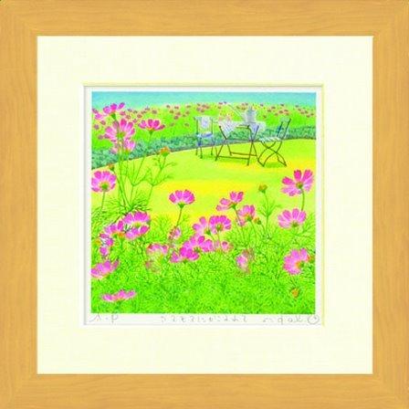 水彩画 Harumi Kurinoki-S にかこまれて〔栗乃木ハルミ くりのきはるみ〕/ 絵画 壁掛け のあゆわら B0068G3NNQ