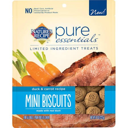 Nature's Recipe Pure Essentials Mini Biscuits - Duck & Carrot Recipe - 8 oz