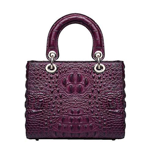 Mena UK-delle nuove donne del coccodrillo del modello Pelle artificiale multiuso casuale pelle morbida borsa / sacchetto di spalla / Diana Bag