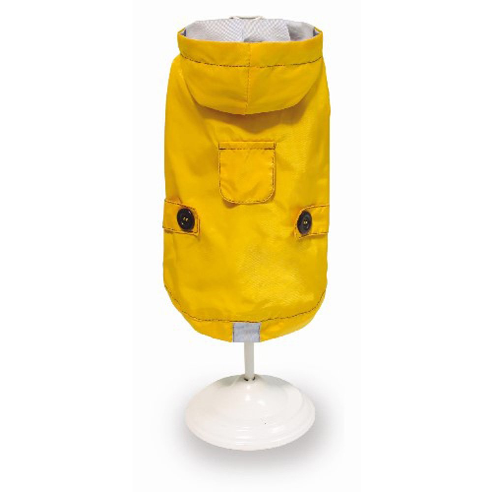 CROCI Raincoat for Dogs, Yellow, 25 cm