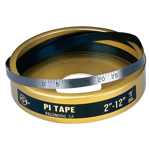 PI TAPE PI TAPE Periphery Tape Measure - Type of Reading: Inch Measuring Range: 2''to 24'' Accuracy: ±.001''