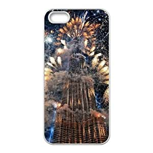 Dubai Burj Khalifa Tower Personalized Cover Case with Hard Shell Protection for Iphone 5,5S Case lxa#850923