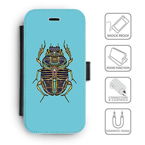 Flip PU Leather Wallet Case avec des fentes de carte de crédit // Q08550627 Bogue sacré Cyan // apple iphone 7 2016