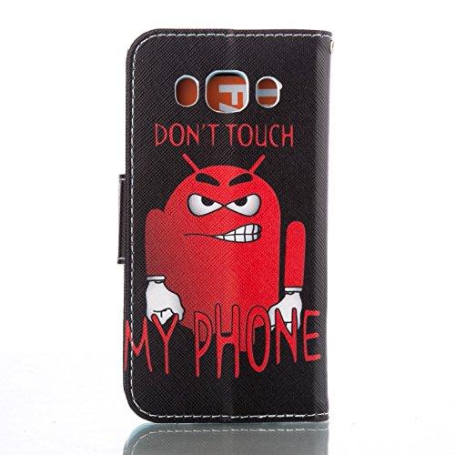 ikasus - Cartera de mano con asa para mujer Abstract Watercolor Fish Red Robot Don't Touch My Phone