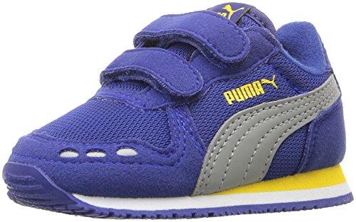 PUMA Cabana Racer Mesh V Kids Sneaker (Toddler/ Little Kid/ Big Kid), Mazarine Blue/ Limestone, 8 M US Toddler