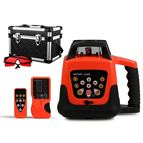 happybuy-laser-level-red-rotary-laser-level-360-self-leveling-laser-leveler-with-remote-control-red