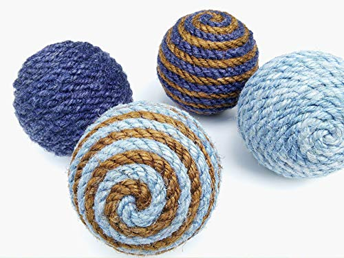 Medium Sisal Rope Decorative Ball, Natural or Dyed Sisal, Nautical Home Decor