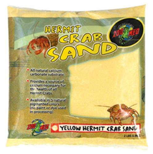 - Zoo Med Laboratories SZMHC2Y Hermit Crab, 2-Pound, Sand Yellow