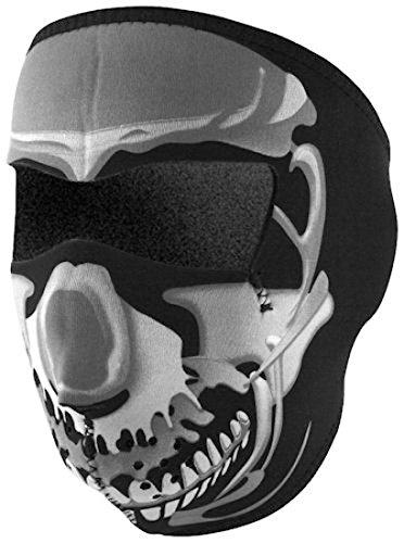 Zan Headgear Chrome Skull Full Face Neoprene Face Mask