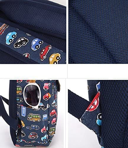 MUTANG Childrens School Bag Boy Boy Cartoon Backpack Cute Car Pattern Design Burden Shoulder Bag Printing Rucksack for Primary School Boys and Girls