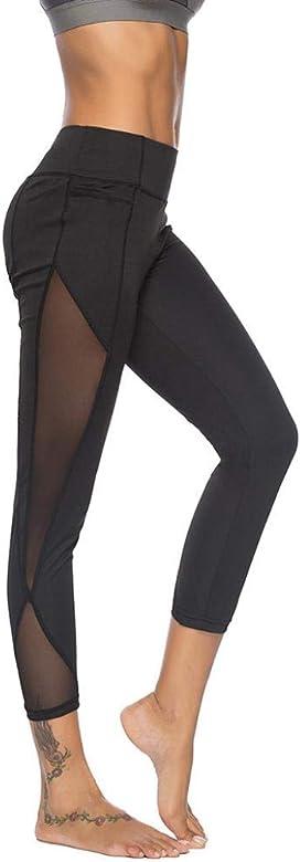 Beautyjourney Leggings recortado de la aptitud, Pantalones de ...