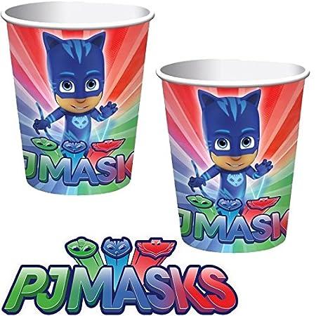 8 Vasos de Papel (* PJ Máscaras * Cumpleaños para niños y ...