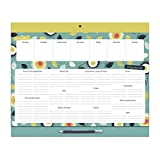 Magnetic Weekly Meal Planner and Grocery List Notepad. Perforated Shopping List Pad. Organized Mom Big Shop & Menu Planner. Large Refrigerator menu planner pad with pencil. Pocket for coupons.